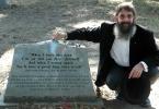 Greg S. Maizlish, Esq. at the grave of Robert Johnson